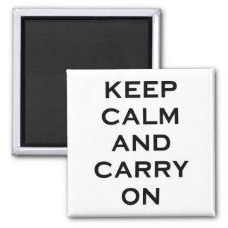 Keep Calm Carry On Fridge Magnets