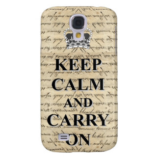 Keep Calm & Carry On Galaxy S4 Cover