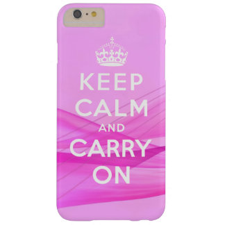 Keep Calm Carry On Girly Pink Barely There iPhone 6 Plus Case