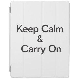 Keep Calm & Carry On iPad Cover