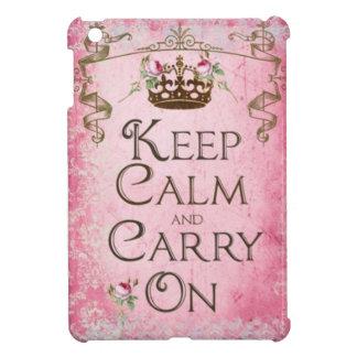 Keep Calm & Carry On iPad Mini Case