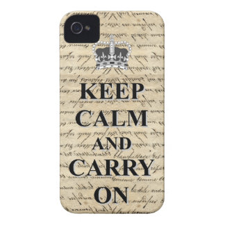Keep Calm & Carry On iPhone 4 Case