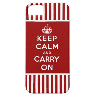 Keep Calm, Carry On iPhone 5 Case Red Stripes