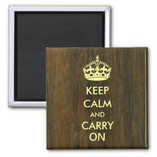 Keep Calm Carry on Ivory on Rio Rosewood Magnet
