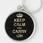 Keep Calm Carry On Keychain