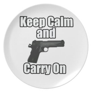 Keep Calm Carry On Melamine Plate