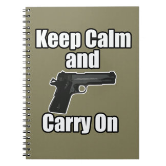 Keep Calm Carry On Notebook