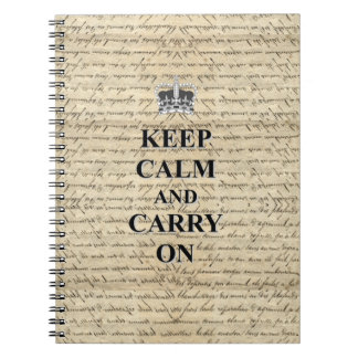 Keep Calm & Carry On Note Books