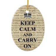 Keep Calm & Carry On Christmas Tree Ornament