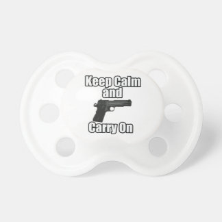 Keep Calm Carry On Pacifier