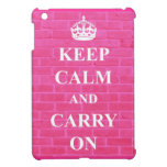 Keep Calm & Carry On Pink Case For The iPad Mini