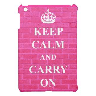 Keep Calm & Carry On Pink iPad Mini Cover