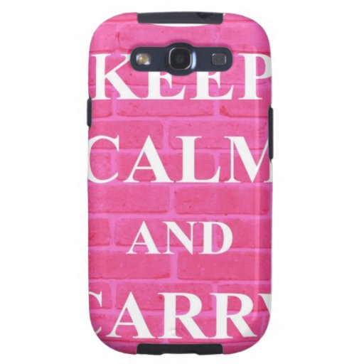 Keep Calm & Carry On Pink Samsung Galaxy S3 Cover