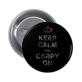 Keep Calm Carry On Pins