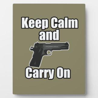 Keep Calm Carry On Plaque