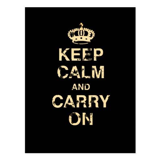 Keep Calm Carry On Postcards