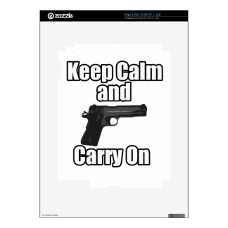 Keep Calm Carry On Skin For iPad 2