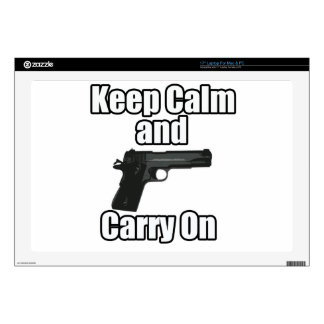 Keep Calm Carry On Skin For Laptop