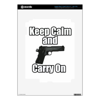 Keep Calm Carry On Skins For iPad 3