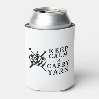 Keep Calm Carry Yarn Can Cooler