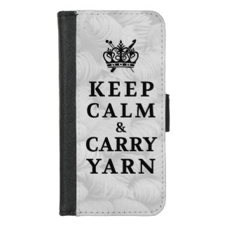 Keep Calm Carry Yarn Crafts iPhone 8/7 Wallet Case