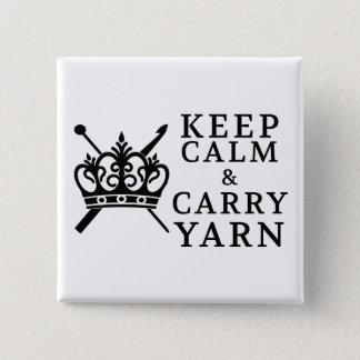 Keep Calm Carry Yarn • Crafts Pinback Button