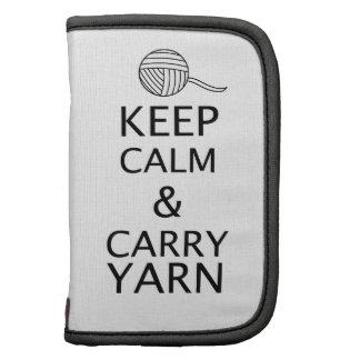 Keep Calm Carry Yarn Custom Color Light Planners