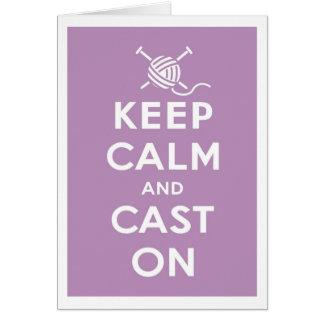 Keep Calm & Cast On Notecard Cards