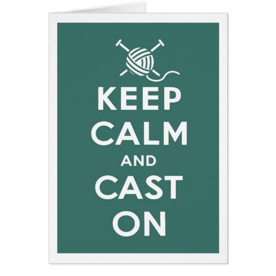 Keep Calm & Cast On Notecard