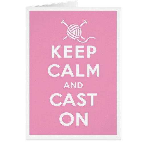Keep Calm & Cast On Notecard Card