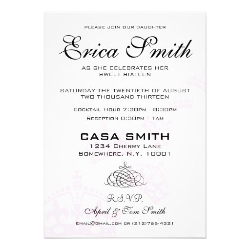 Keep Calm Cause You're Invited Sweet 16 (back side)