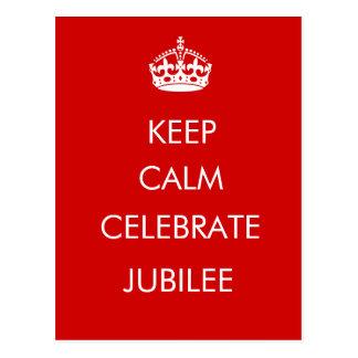 Keep Calm Celebrate Jubilee postcard