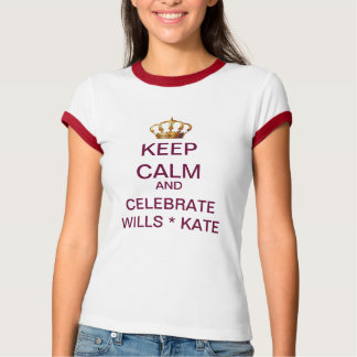 KEEP CALM Celebrate Wills and Kate T-Shirt