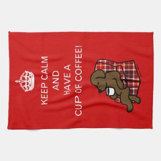 Keep Calm Chocolate Labrador Hand Towel