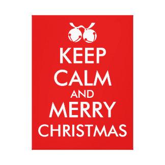 Keep Calm Christmas Canvas Art Make Your Own Canvas Print