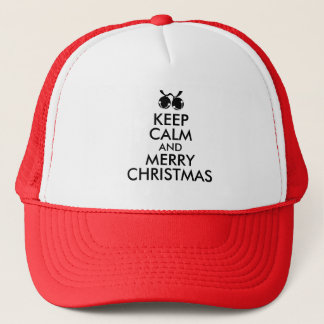 Keep Calm Christmas Hat Jingle Bells Custom