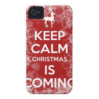 Keep Calm Christmas is Coming iPhone 4 Cover