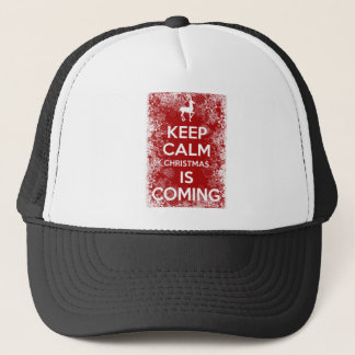 Keep Calm Christmas is Coming Trucker Hat