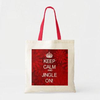 Keep Calm Christmas Jingle red gift bag