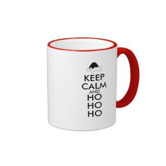 Keep Calm Christmas Mug Santa Hat Ho Ho Ho Custom