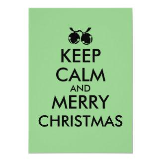 Keep Calm Christmas Party Invitations Customizable