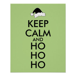 Keep Calm Christmas Poster Santa Hat Ho Ho Ho
