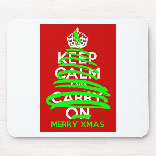KEEP CALM Christmas Tree Grafitti Mouse Pad