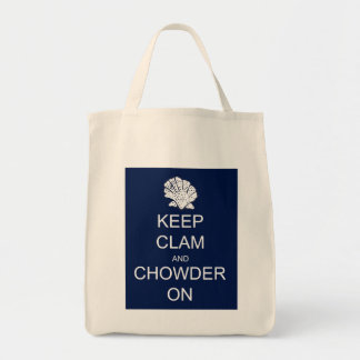Keep Calm Clam Chowder Grocery Tote