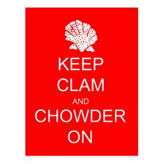 Keep Calm Clam Chowder Post Card