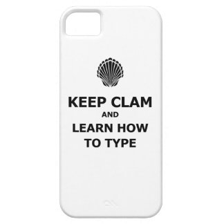 Keep Calm Clam iPhone 5 Case
