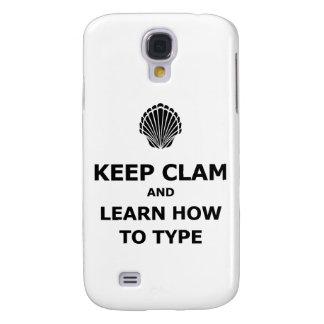 Keep Calm Clam Samsung Galaxy S4 Case