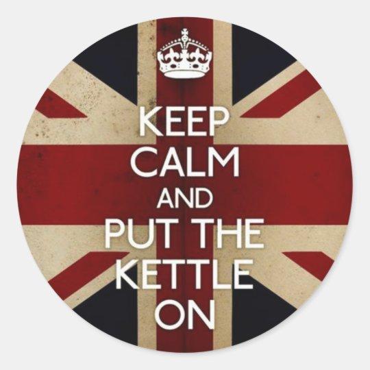 Keep Calm Classic Round Sticker