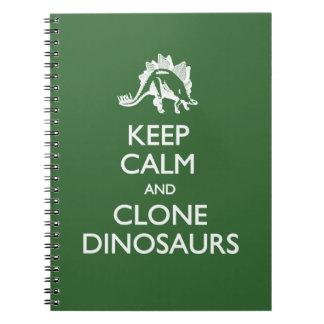 Keep Calm Clone Dinosaurs Notebook