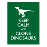Keep Calm Clone Dinosaurs postcard